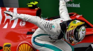 Britânico coroou seu novo título com vitória em Interlagos - Nelson Almeida / AFP