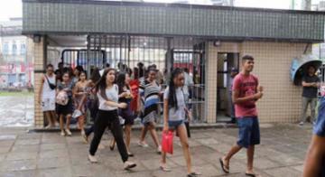 Estudantes chegam para o Enem - Gilberto Júnior/Ag. A Tarde