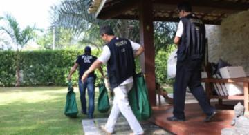 Policiais cumpriram mandados de busca e apreensão na casa de suspeitos - SSP-BA/Divulgação