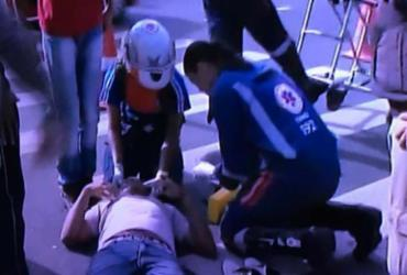 Homem é atropelado por moto em faixa de pedestre em Água de Meninos | Reprodução | TV Record