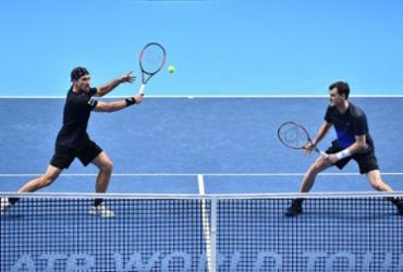 Franceses vencem e jogam norte-americanos na rota de Bruno Soares no ATP Finals   Glyn Kirk l AFP