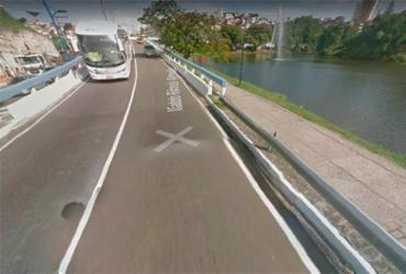 Motorista fica ferido em acidente no viaduto Rômulo Almeida | Reprodução | Google Maps