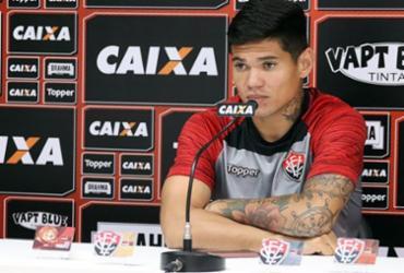 Suspenso contra o Sport, Léo Ceará acredita em jogo difícil em Recife   Maurícia da Matta   EC Vitória