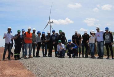 Estudantes visitam Parque Eólico Morro Sul em Morro de Chapéu