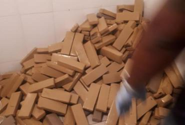 Meia tonelada de maconha é apreendida em casa de praia em Ipitanga | Divulgação | SSP-BA