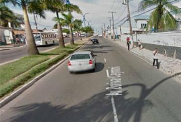 Manifestação deixa trânsito lento na avenida Dorival Caymmi | Reprodução| Google Maps