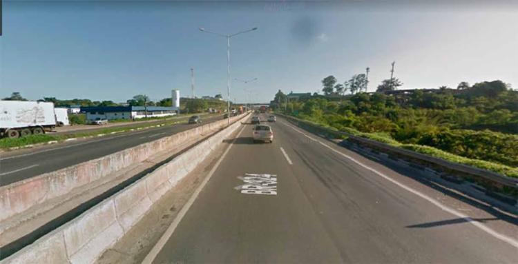 O acidente ocorreu no km 614 da BR-324 - Foto: Reprodução   Google Maps