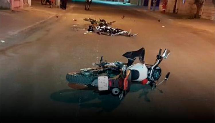 Diego dos Santos colidiu uma bicicleta durante a fuga; o ciclista está hospitalizado - Foto: Reprodução | blog do Marcelo