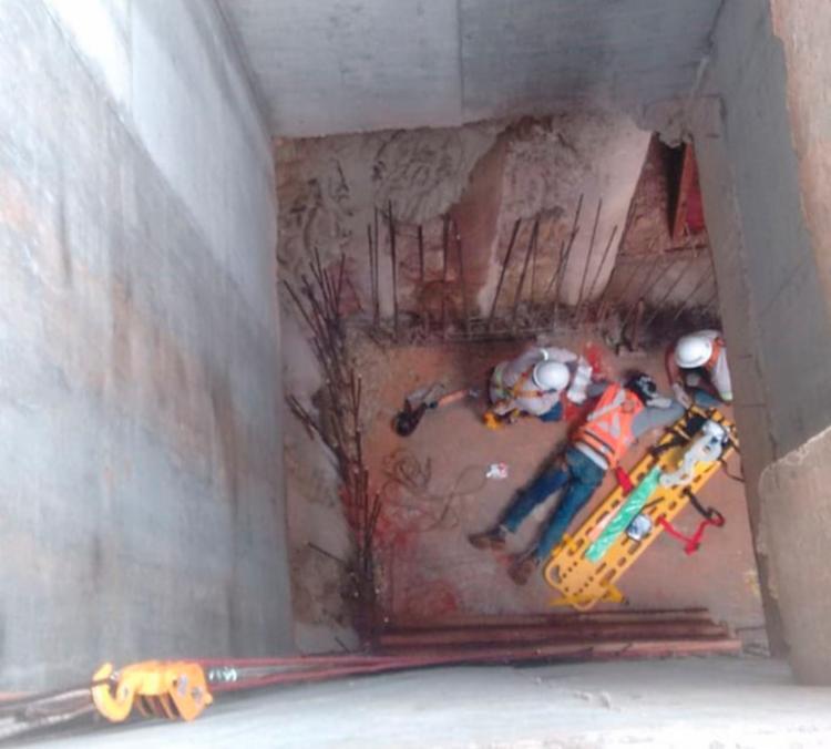 A queda aconteceu depois que o homem se desprendeu do sistema de ancoragem - Foto: Divulgação | SSP-BA