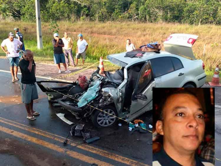 Acidente envolvendo um carro e carreta deixa uma pessoa morta Ivo Costa, na BA-093 - Foto: Reprodução   Site Mais Região