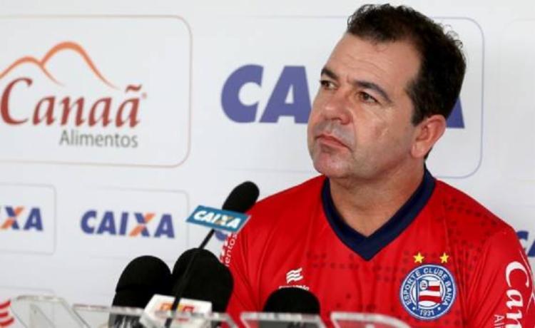 O técnico Enderson Moreira, falou em uma coletiva sobre o desempenho do esquadrão - Foto: Reprodução | Ec Bahia