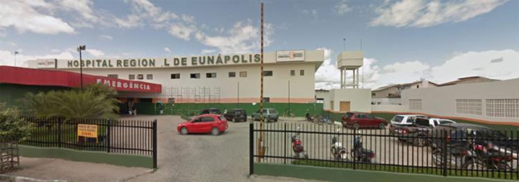 Após o crime, a vítima foi encaminhada ao Hospital Regional de Eunápolis - Foto: Google Street View