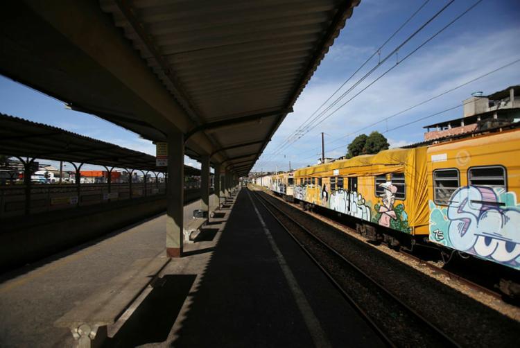 Dois trens estão funcionando normalmente nesta quarta-feira - Foto: Raul Spinassé | Ag. A TARDE (02.10.2018)