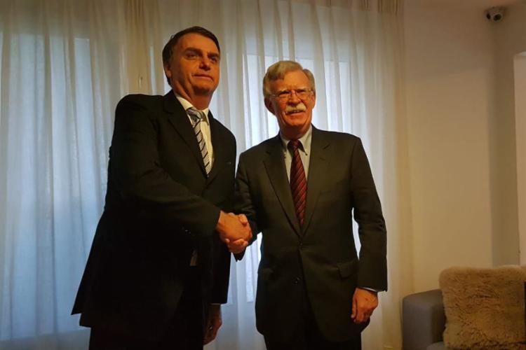 O presidente eleito recebeu John Bolton e comitiva nesta quinta-feira - Foto: Reprodução | Twitter