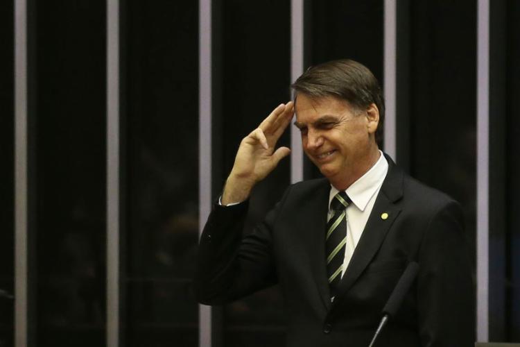 Presidente eleito participou da sessão em homenagem à Constituição nesta terça - Foto: José Cruz   Agência Brasil