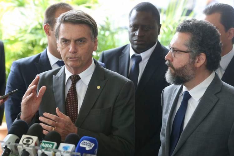O diplomata (à dir.) tem 29 anos de carreira no Itamaraty - Foto: Valter Campanato l Agência Brasil