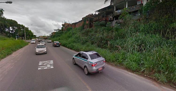 Duplo acidente ocorreu no km 7 da BA-528, conhecida como Estrada do Derba, sentido Águas Claras - Foto: Reprodução | Google Maps