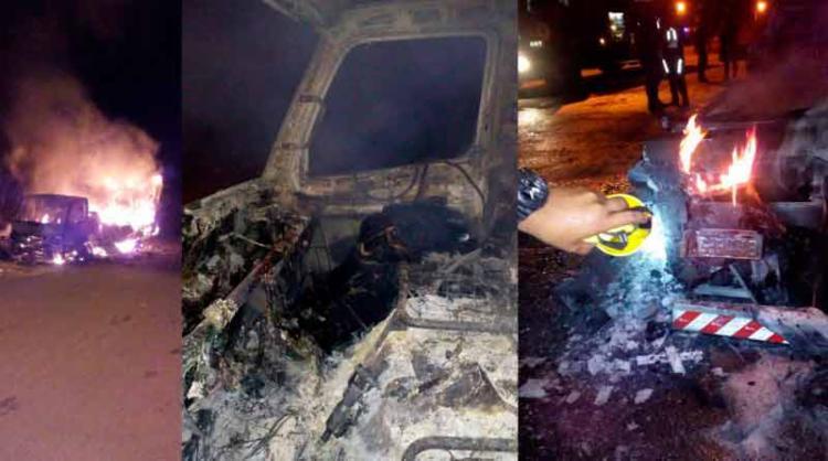 O caminhão ficou totalmente destruído - Foto: Reprodução | Site Informe Baiano
