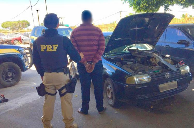 O homem de 28 anos alegou que comprou o automóvel em setembro deste ano na capital do Espirito Santo. - Foto: Divulgação | PRF