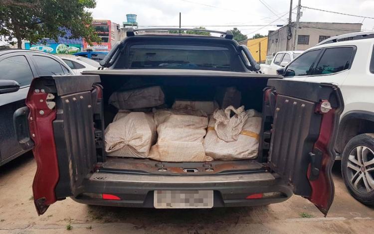 Carro que transportava maconha foi apreendido em Feira de Santana - Foto: Divulgação l Polícia Civil