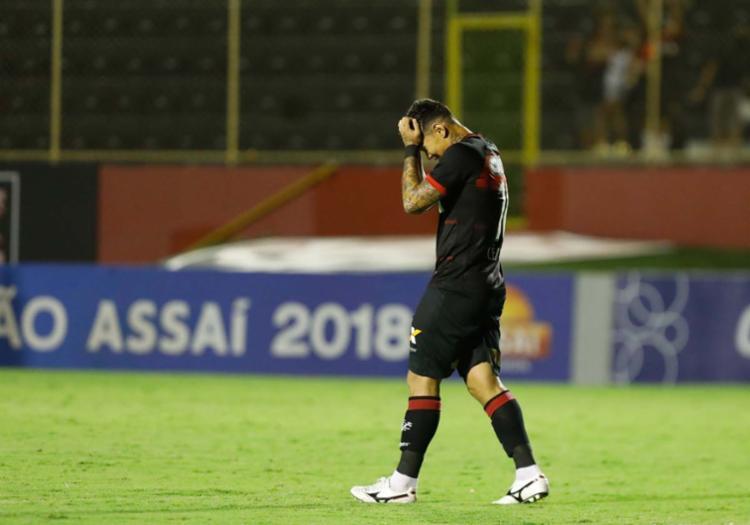 O Vitória atualmente ocupa a 19ª colocação, com apenas 36 pontos - Foto: Tiago Caldas | Ag. A TARDE