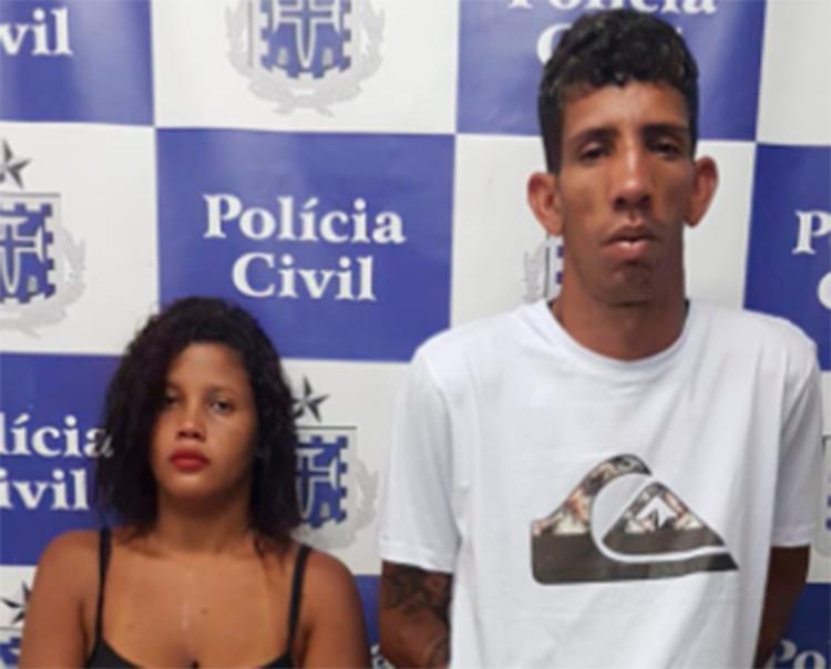Iolanda Santos Deiró Barbosa e Anderson Ludwig Macedo foram presos em flagrante - Foto: Divulgação | Polícia Civil