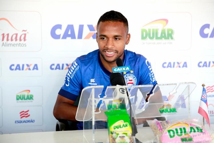 O atacante marcou três gols nas últimas cinco partidas - Foto: Felipe Oliveira | EC Bahia