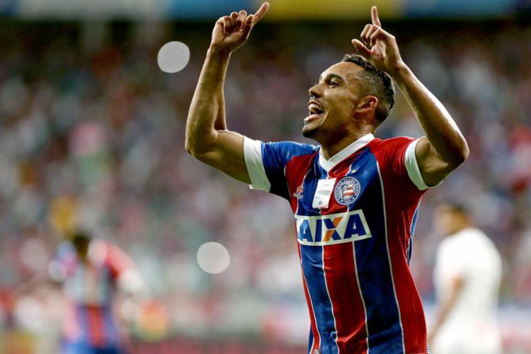 Edigar Junio, que tinha vínculo até dezembro de 2019, ampliou seu contrato com o Tricolor - Foto: Felipe Oliveira l EC Bahia