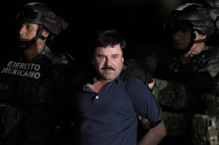 O júri deve decidir se El Chapo, de 61 anos, é culpado ou não de 11 crimes - Foto: Alfredo Estrella   AFP