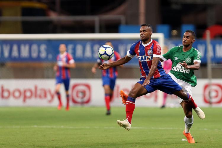 O atacante Élber marcou o único gol da partida - Foto: Felipe Oliveira l EC Bahia