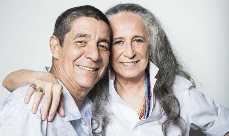 Zeca Pagodinho e Maria Bethânia realizam o show de turnê em comemoração ao DVD