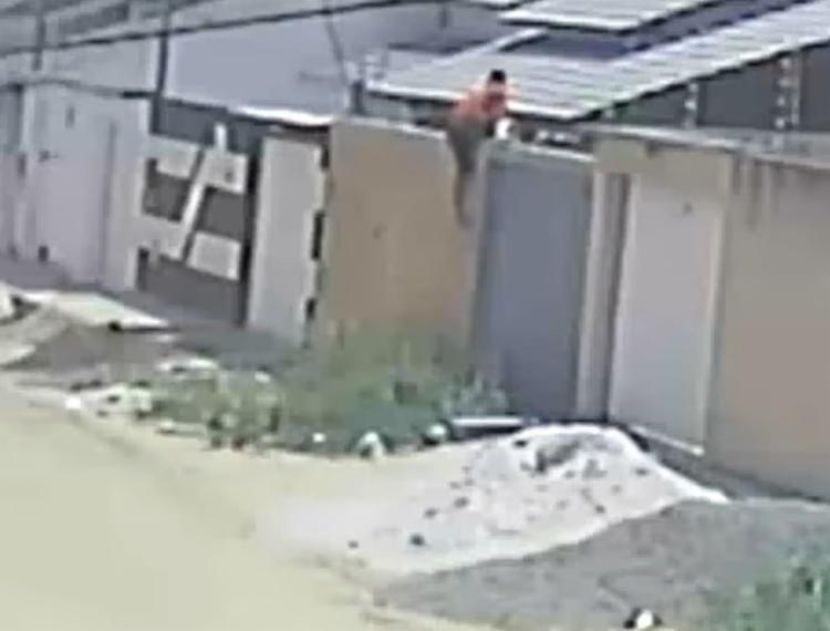 O suspeito foi identificado por policiais nas gravações de uma câmera de vigilância após furtar uma casa