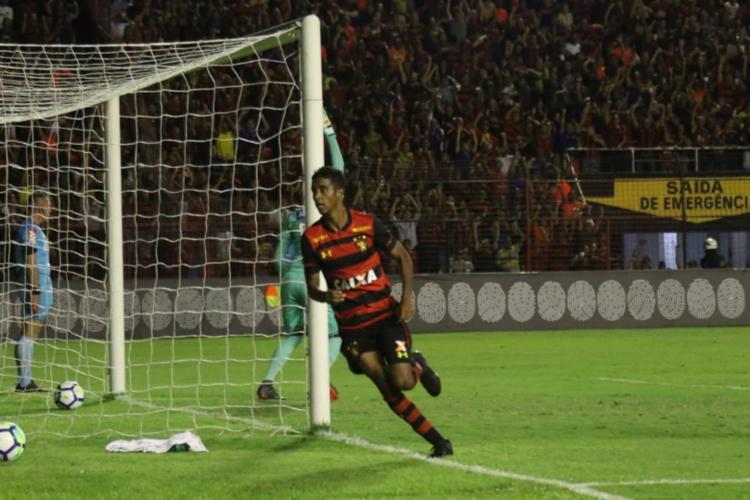 Cria do Fazendão, o atacante Gabriel marcou o gol do Leão da Ilha - Foto: Williams Aguiar l Sport Club do Recife