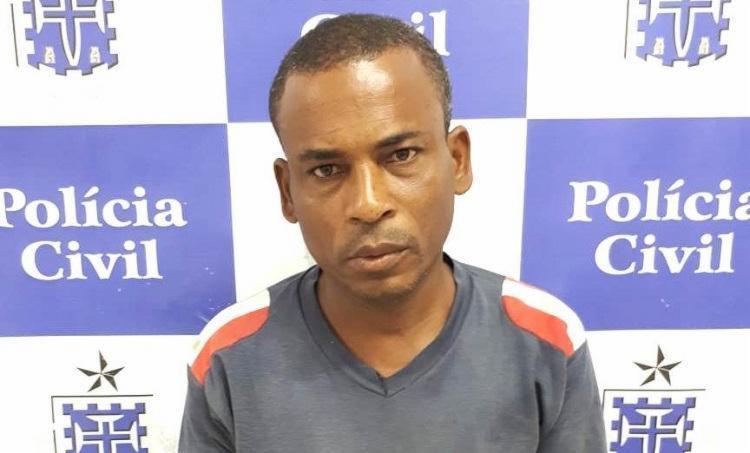 O agressor foi detido em um matagal, no bairro Barroca. momentos depois do crime - Foto: Divulgação | SSP BA