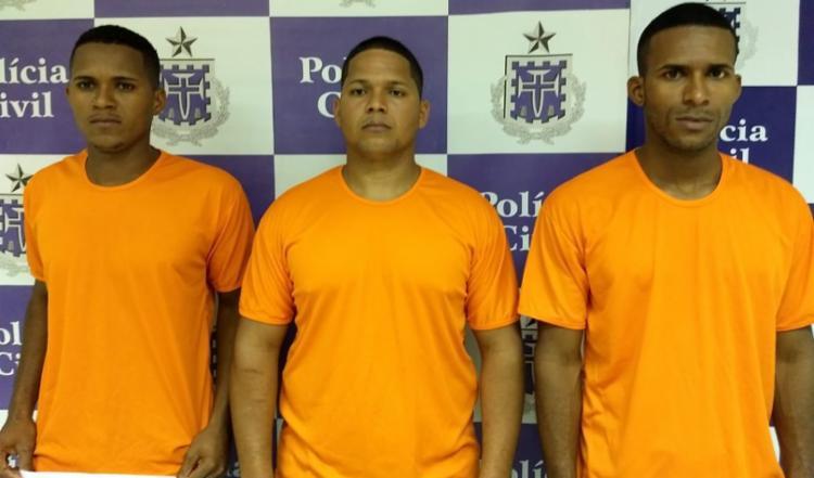 Os três irmãos, Luís Carlos, Alan e Carlos Luís Menezes, se entregaram a polícia na quarta-feira, 14. - Foto: Divulgação | SSP-BA