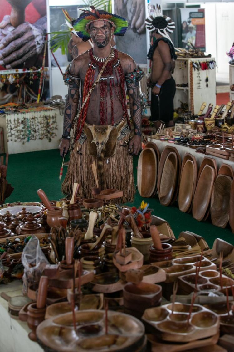 Praça indígena traz diversidade de produtos produzidos por indígenas - Foto: Divulgação