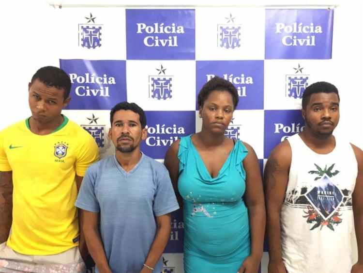 Quarteto teria cometido os crimes devido à rivalidade - Foto: Divulgação   Polícia Civil