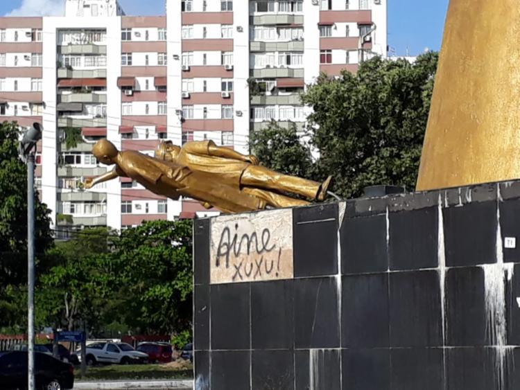 Esculturas que compõem a obra estão tombadas - Foto: Chico Castro | Cidadão Repórter