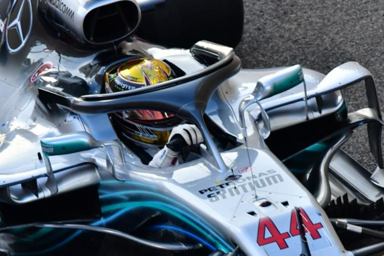 O piloto da Mercedes foi o mais veloz no circuito de Yas Marina - Foto: Giuseppe Cacace | AFP