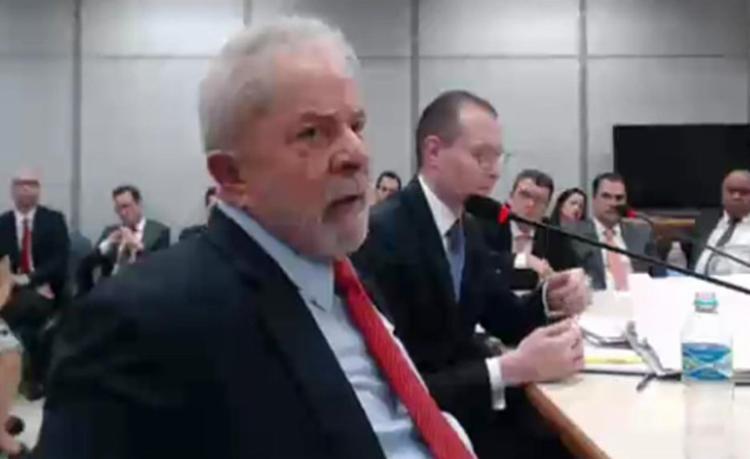 O ex-presidente foi interrogado no processo da Lava Jato sobre o sítio de Atibaia - Foto: Reprodução l Justiça Federal do Paraná
