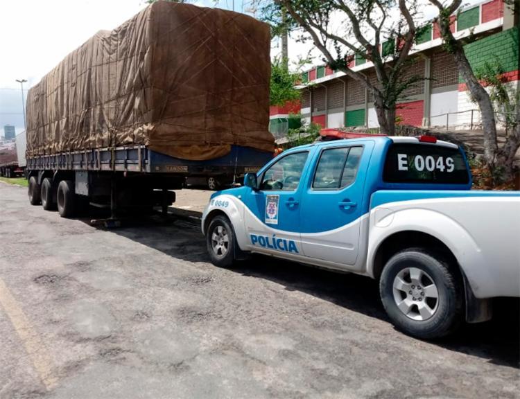O veículo foi entregue ao proprietário, assim como a carga - Foto: Divulgação   Policia Civil