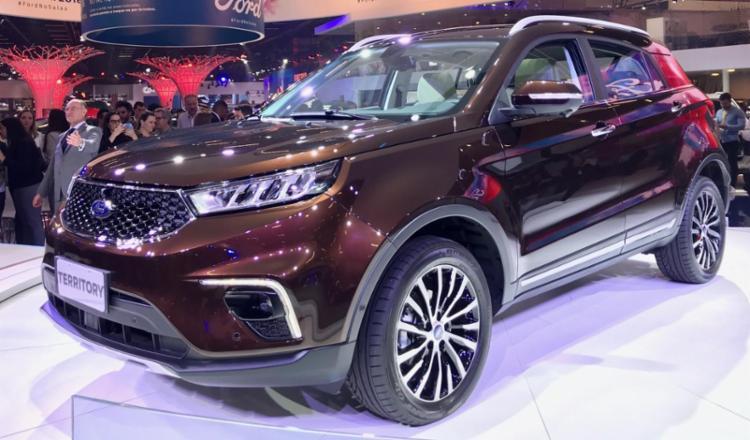 O SUV Territory é o protagonista do estande da Ford no Salão do Automóvel - Foto: Divulgação