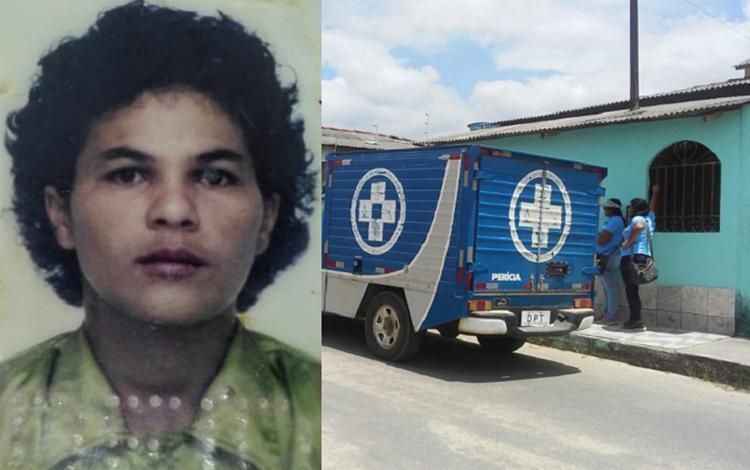 O corpo de Sandra Lopes Queiroz estava em cima da cama e com sinais de estrangulamento - Foto: Reprodução | site Liberdade News