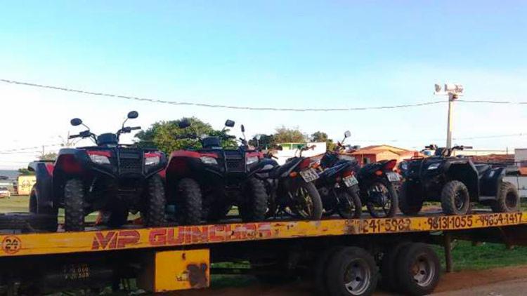 Quadriciclos e motocicletas foram apreendido em cabuçu para permitir aos moradores e visitantes aproveitarem as praias - Foto: Reprodução | Site Acorda Cidade