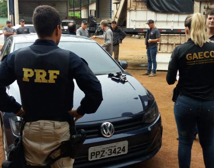 Durante a ação, 150 policiais cumprem 15 mandados de prisão - Foto: Divulgação | PRF