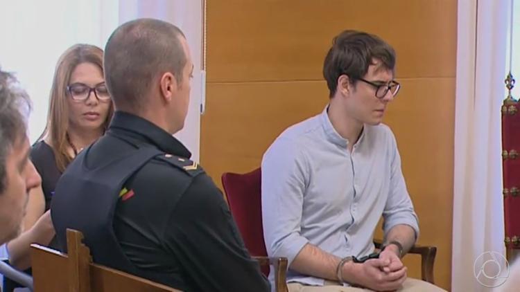 Réu confesso, Patrick Nogueira, de 22 anos, recebeu a pena máxima prevista no Código Penal espanhol - Foto: Reprodução l TV Cabo Branco