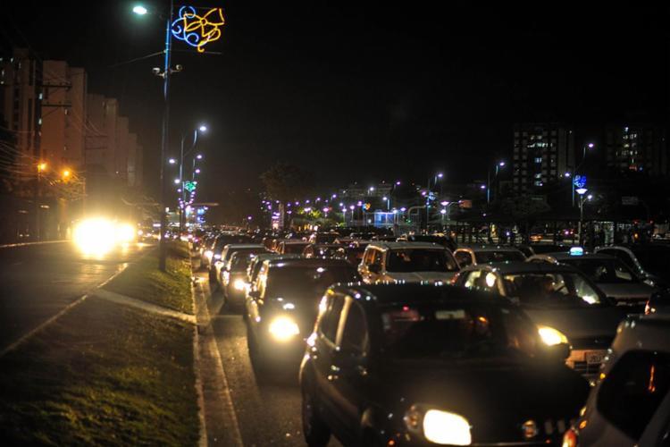 Trânsito ficou lento na região