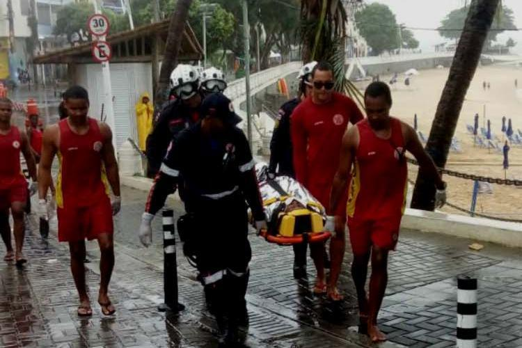 Vítima foi encaminhada a uma unidade de saúde pelo Samu - Foto: CBMBA | Divulgação
