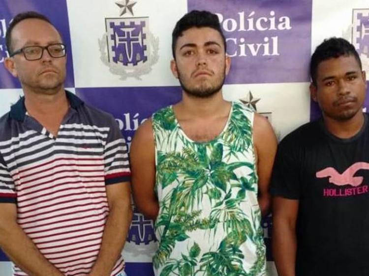 Os detidos foram Márcio Alves da Silva, Iago Felipe da Silva e Welves Reis dos Santos - Foto: Divulgação | Polícia Civil