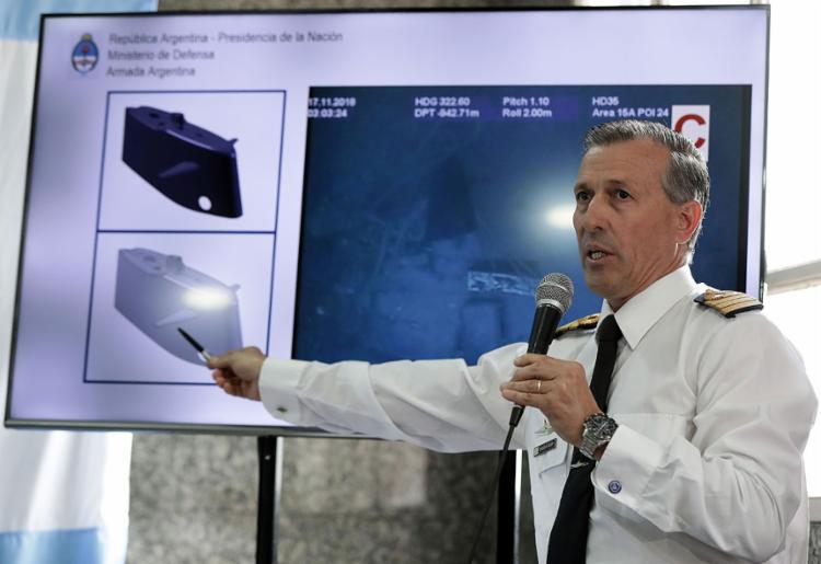 O ARA San Juan, com 44 a bordo, foi localizado a 800 m de profundidade - Foto: Alejandro Pagni l AFP